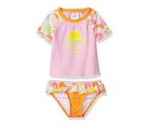 Toddler Girl's Swim Citrus Suit Set, Pink