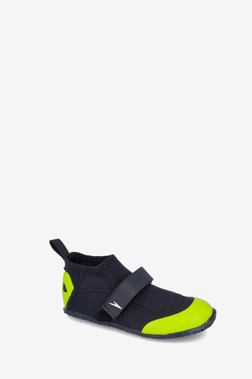 Kids Boys Aqua Shoes, Apple Green/Black