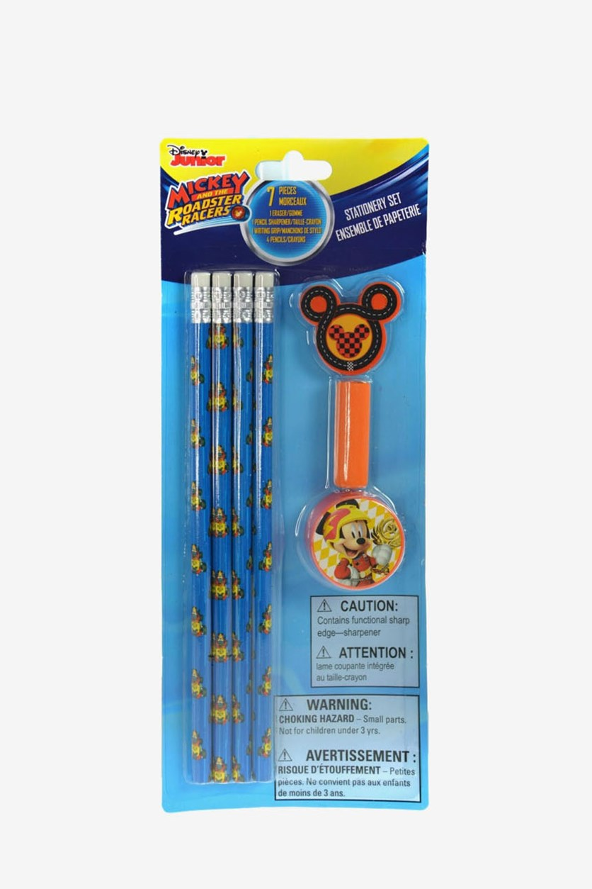 Mickey Roadsters Stationery Set, Blue/Orange