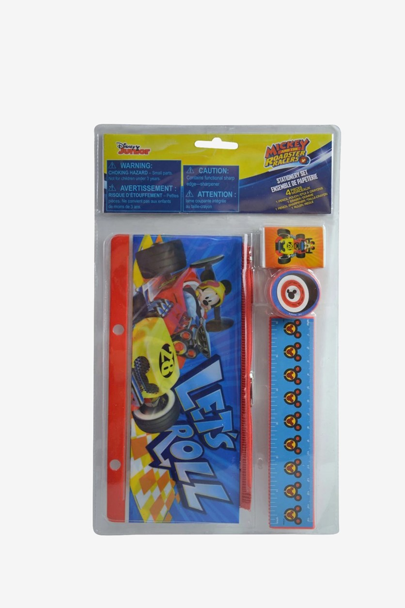Mickey 4 Pieces Stationery Set, Blue Combo