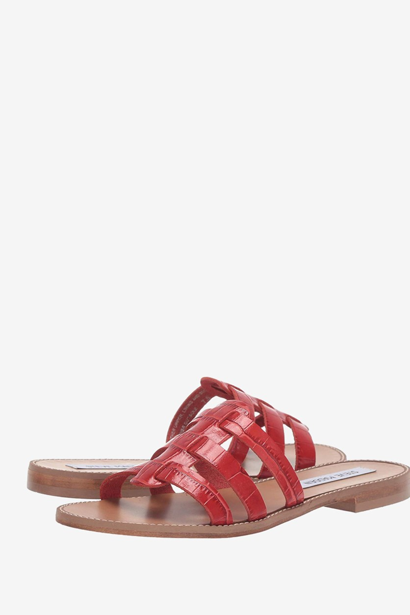 Women's Tammey Fisherman Sandals, Red