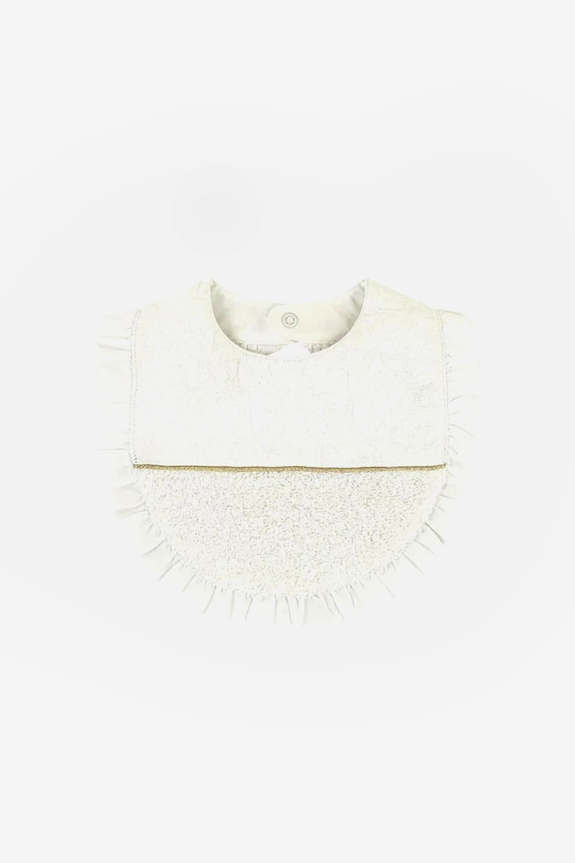 Baby Girl's Bib, White