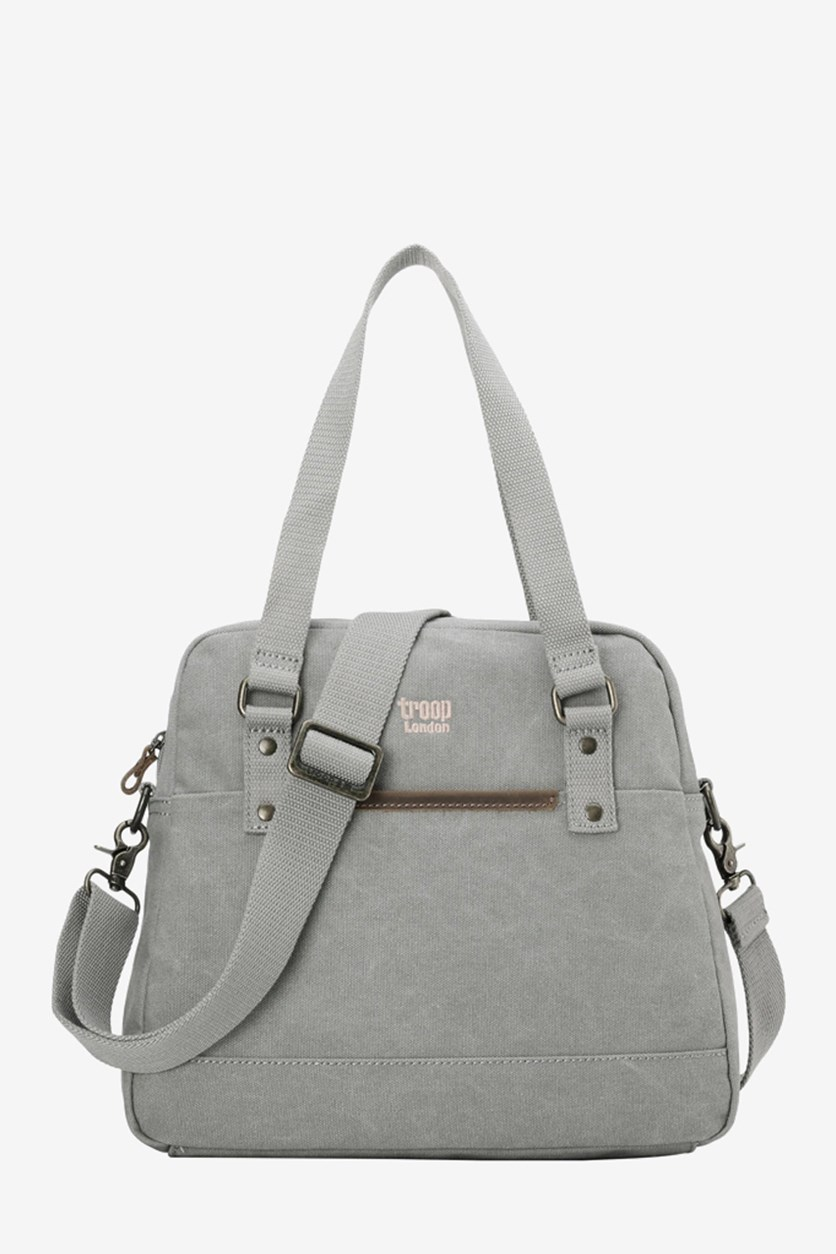Women's Classic Canvass Shoulder Bag, Ash Grey