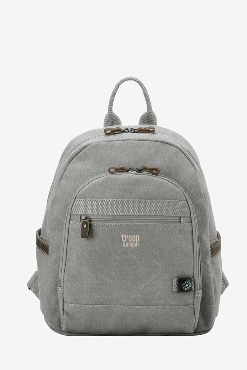 Women's Classic Small Canvas Backpack, Ash Grey