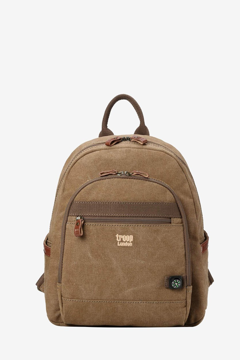 Women's Classic Small Canvas Backpack, Brown