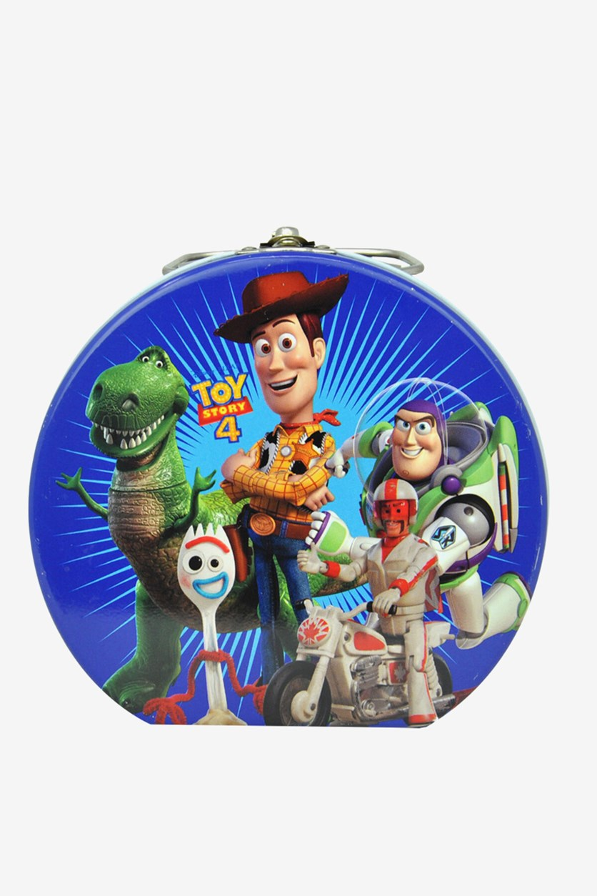 Toy Story Semi Round Tin Box With Clasp, Blue Combo