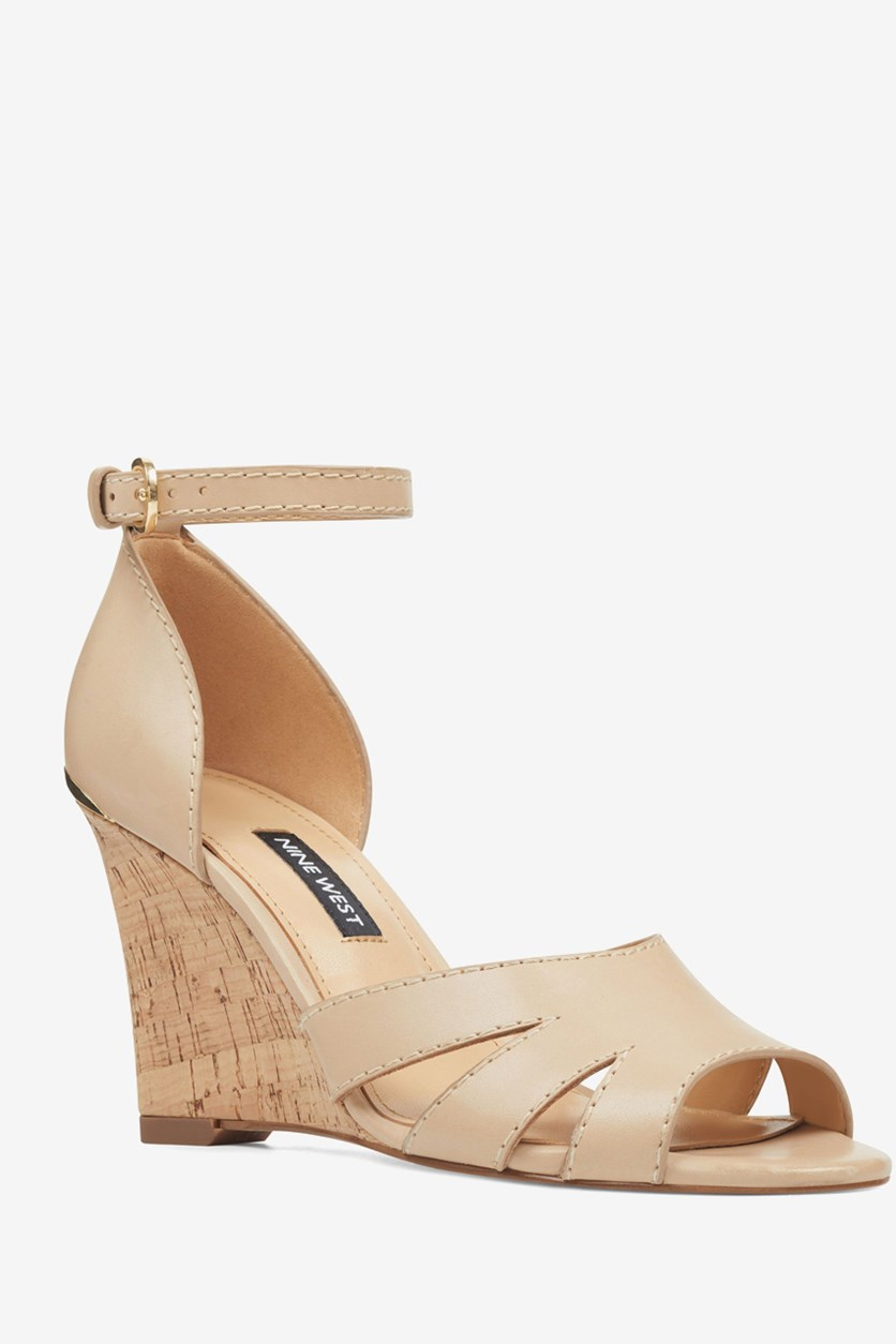 Women's Lilly Ankle Strap Wedge Sandals, Natural
