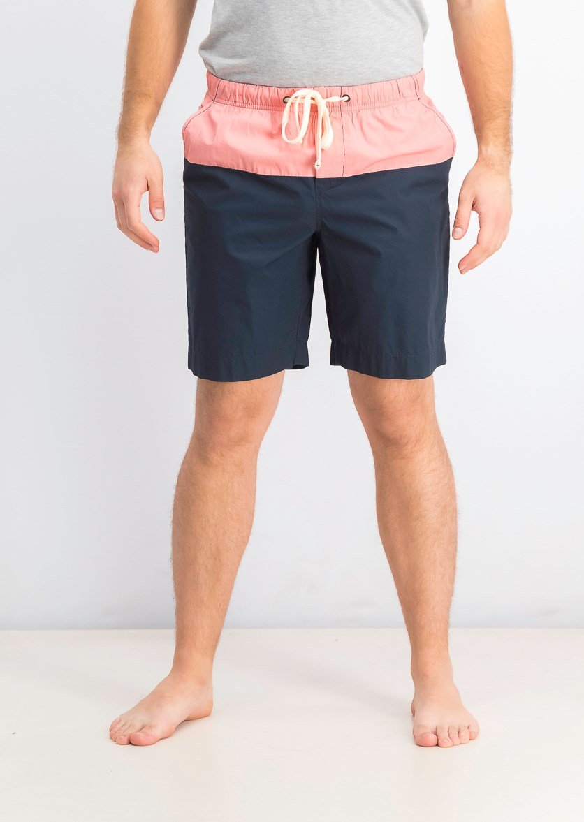Hybrid Shorts, Peach/Navy