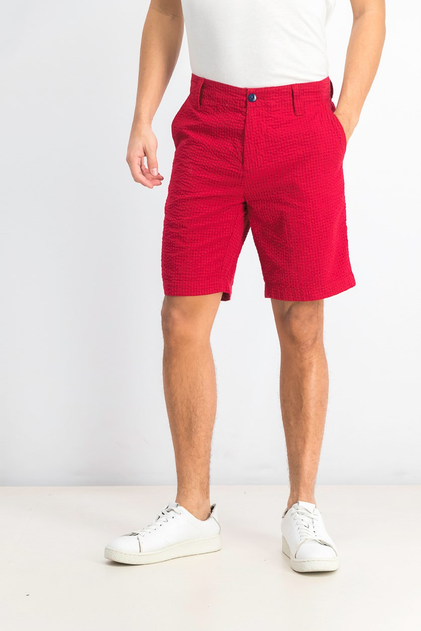 Men's Jerry Gingham Shorts, Red
