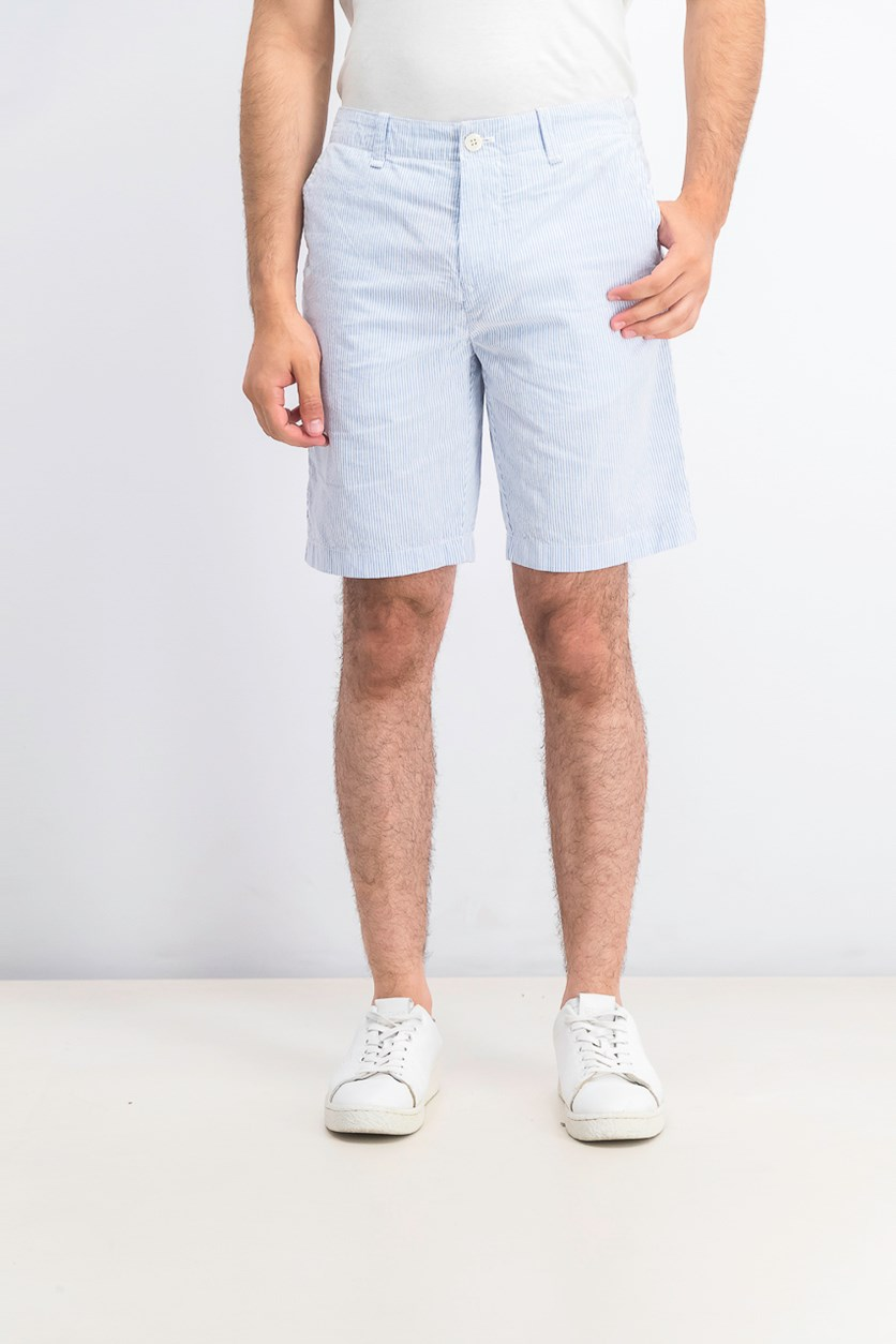 Men's Stripe Shorts, Blue/White