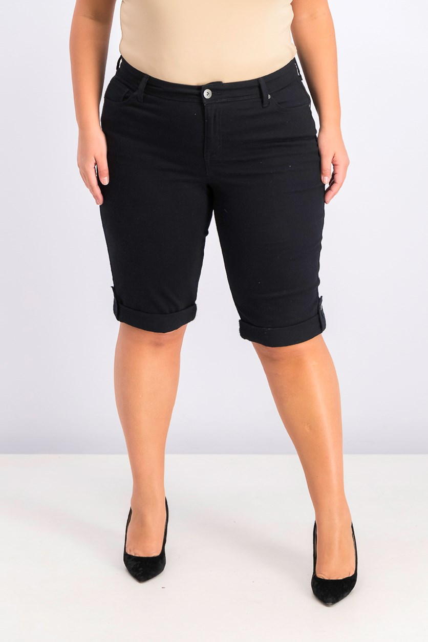 Women's Plus Size Skimmer Short, Deep Black