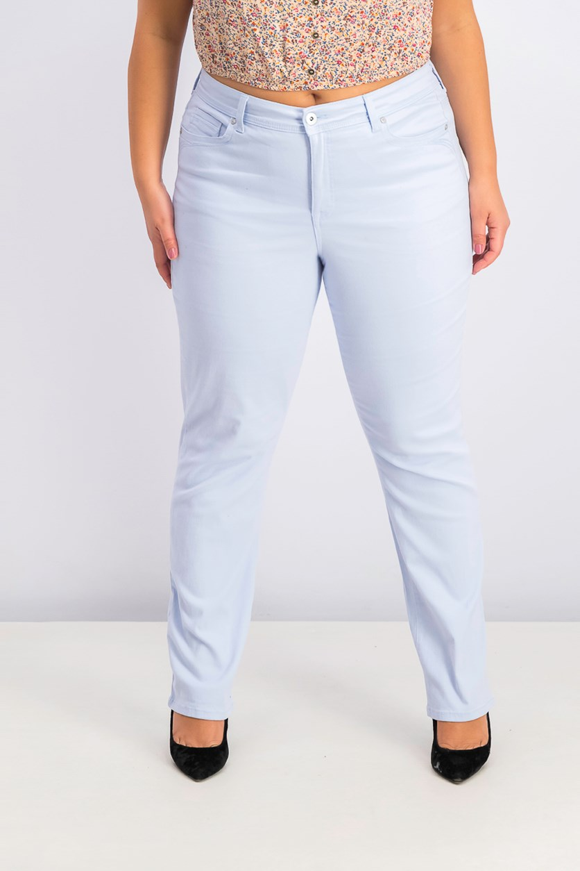Women's Tummy-Control Straight-Leg Jeans, Billowing Cloud