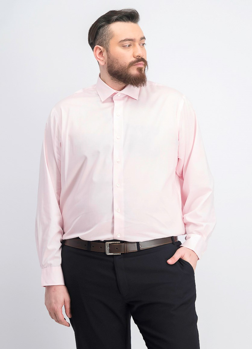 Men's Big & Tall Stretch Dress Shirt, Petal