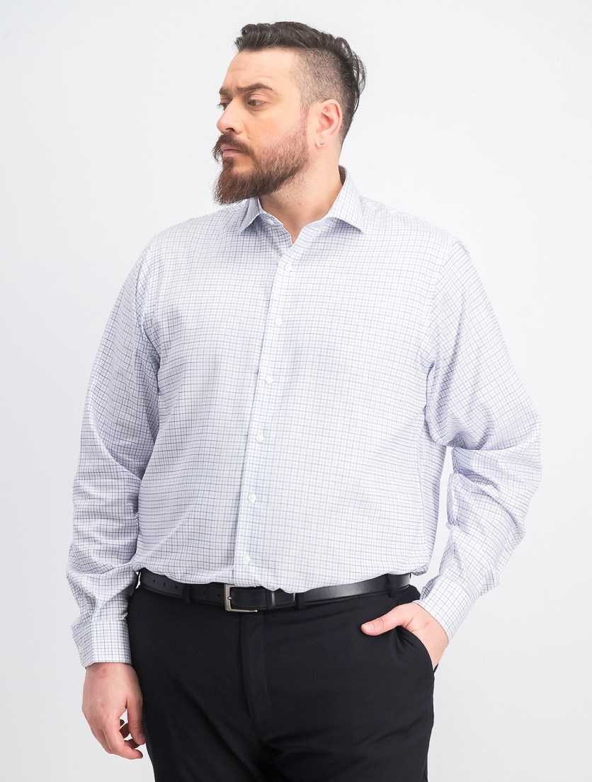Men's Big & Tall Flex Stretch Dress Shirt, Periwinkle