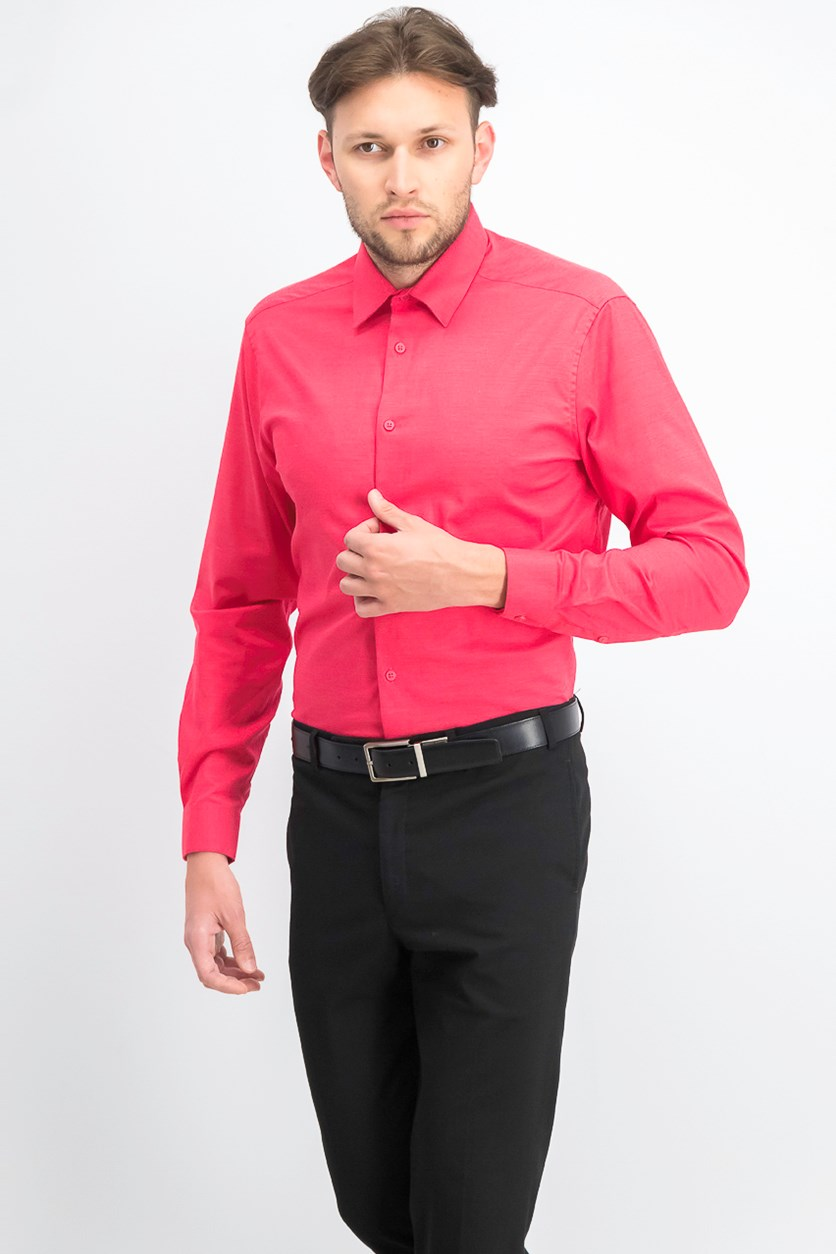 Men's Slim-Fit Dress Shirt, Flame Red