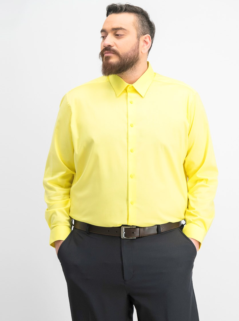 Men's Slim-Fit Dress Shirt, Lemon