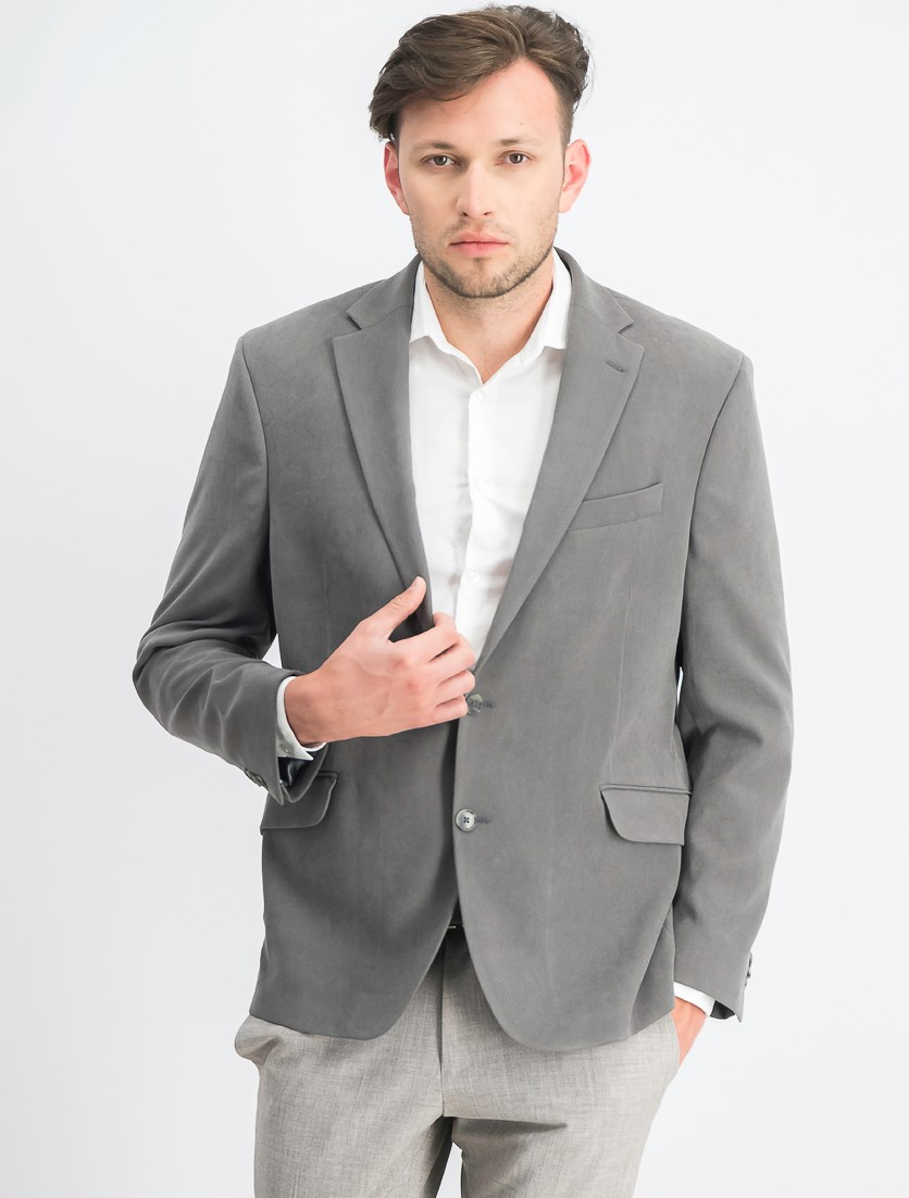 Men's Slim-Fit Ultrasuede Sport Blazer, Grey