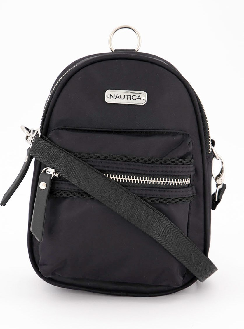 Women's Mini Convertible Backpack, Black