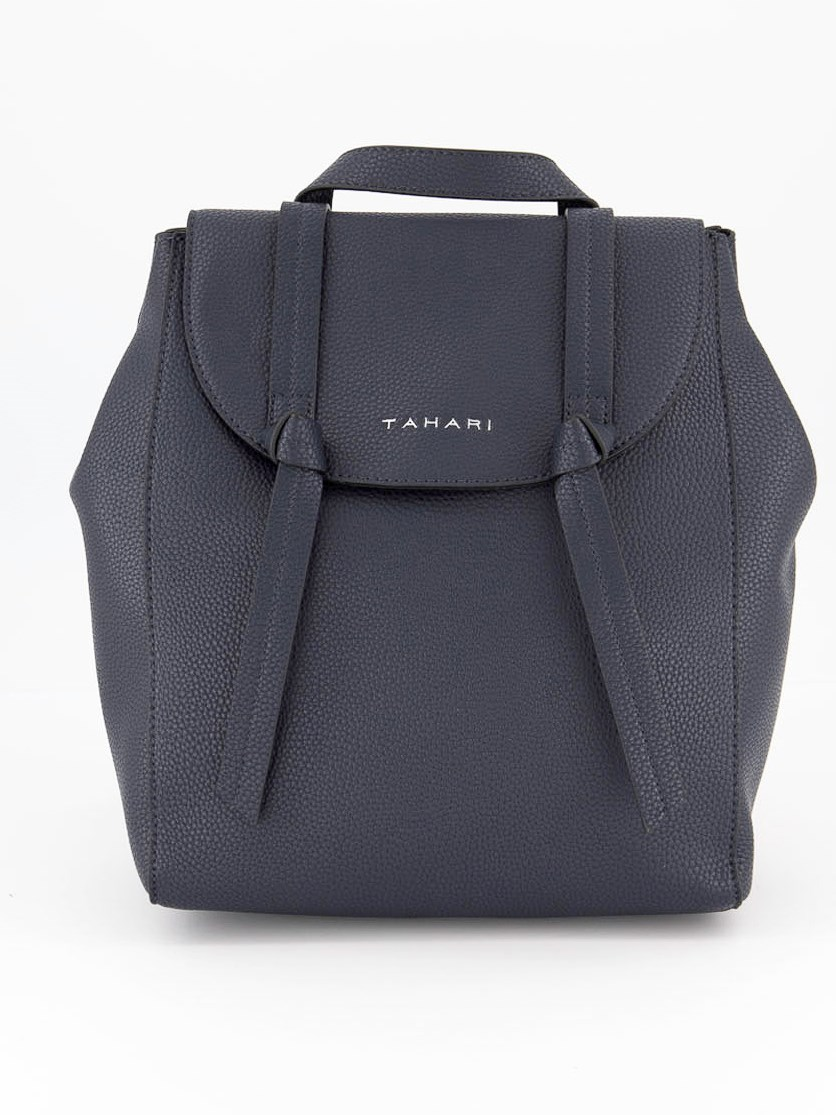 Women's Knotty Pebbled Faux Leather Backpack, Indigo