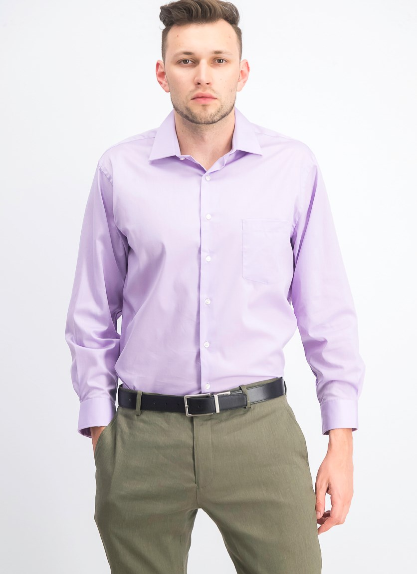 Men's Stretch Flex Button Up Dress Shirt, Soft Lilac