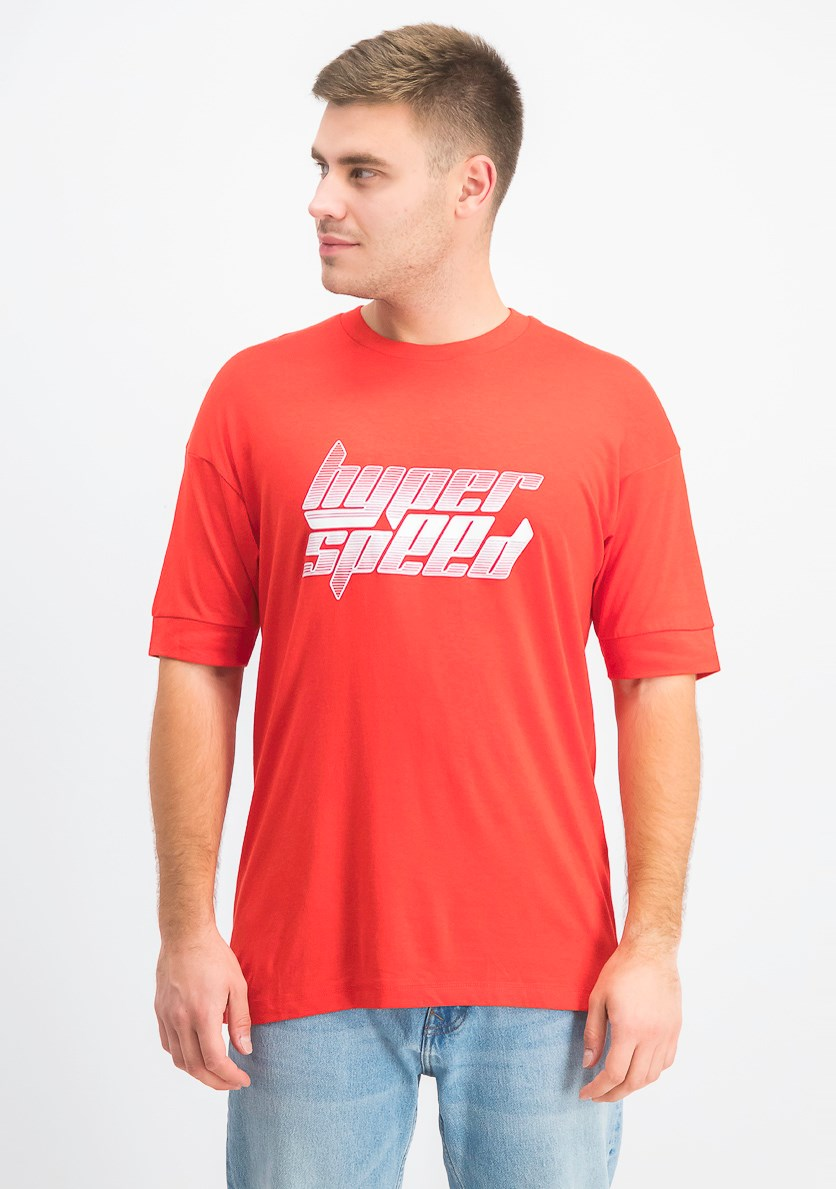 Mens Graphic T-Shirt, Red