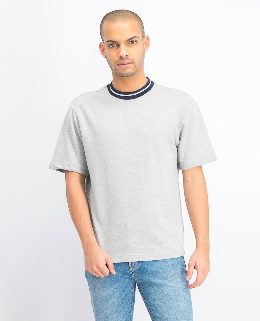 Mens Pull Over T-Shirt, Grey