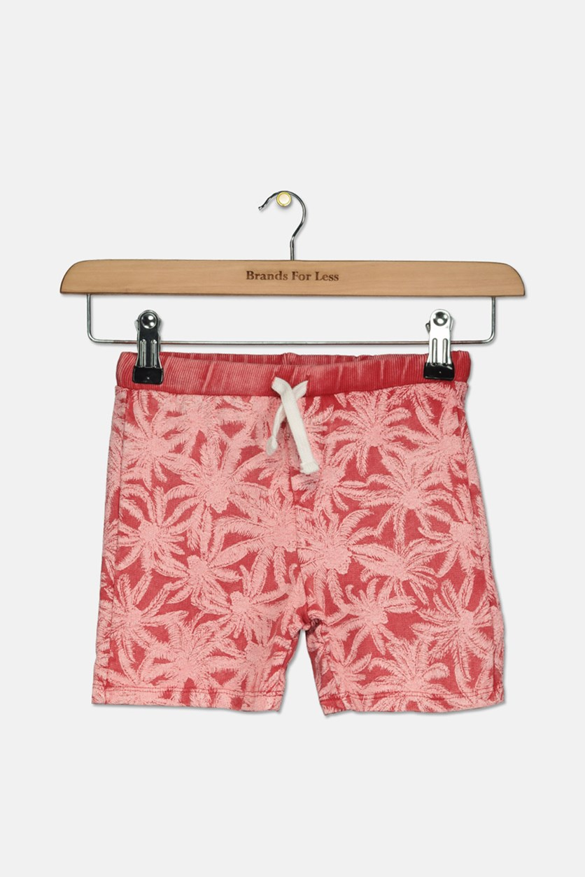 Baby Girl's All-Over Print Drawstring Shorts, Red