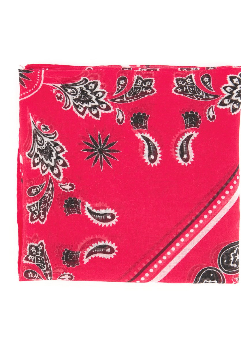 Men's Printed Scarf, Red Combo