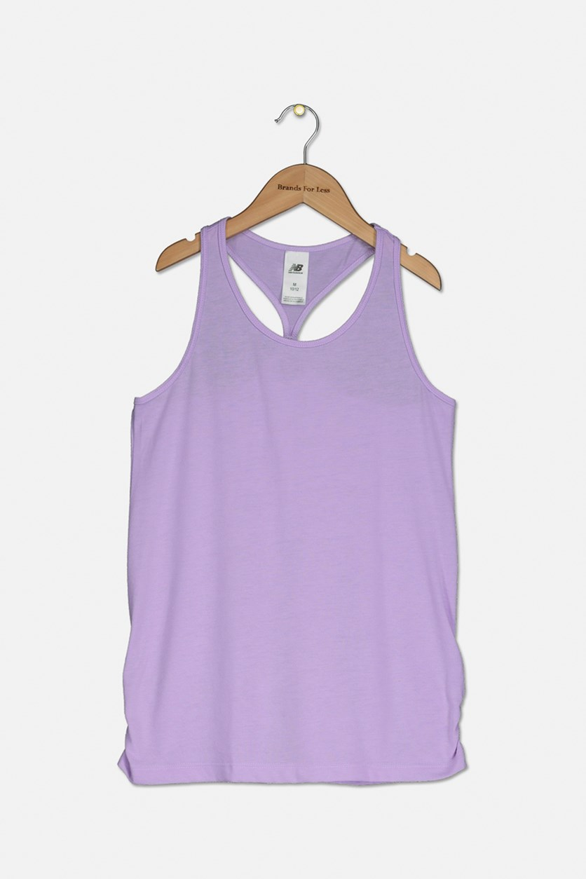 Girl's Pullover Core Tank Top, Purple