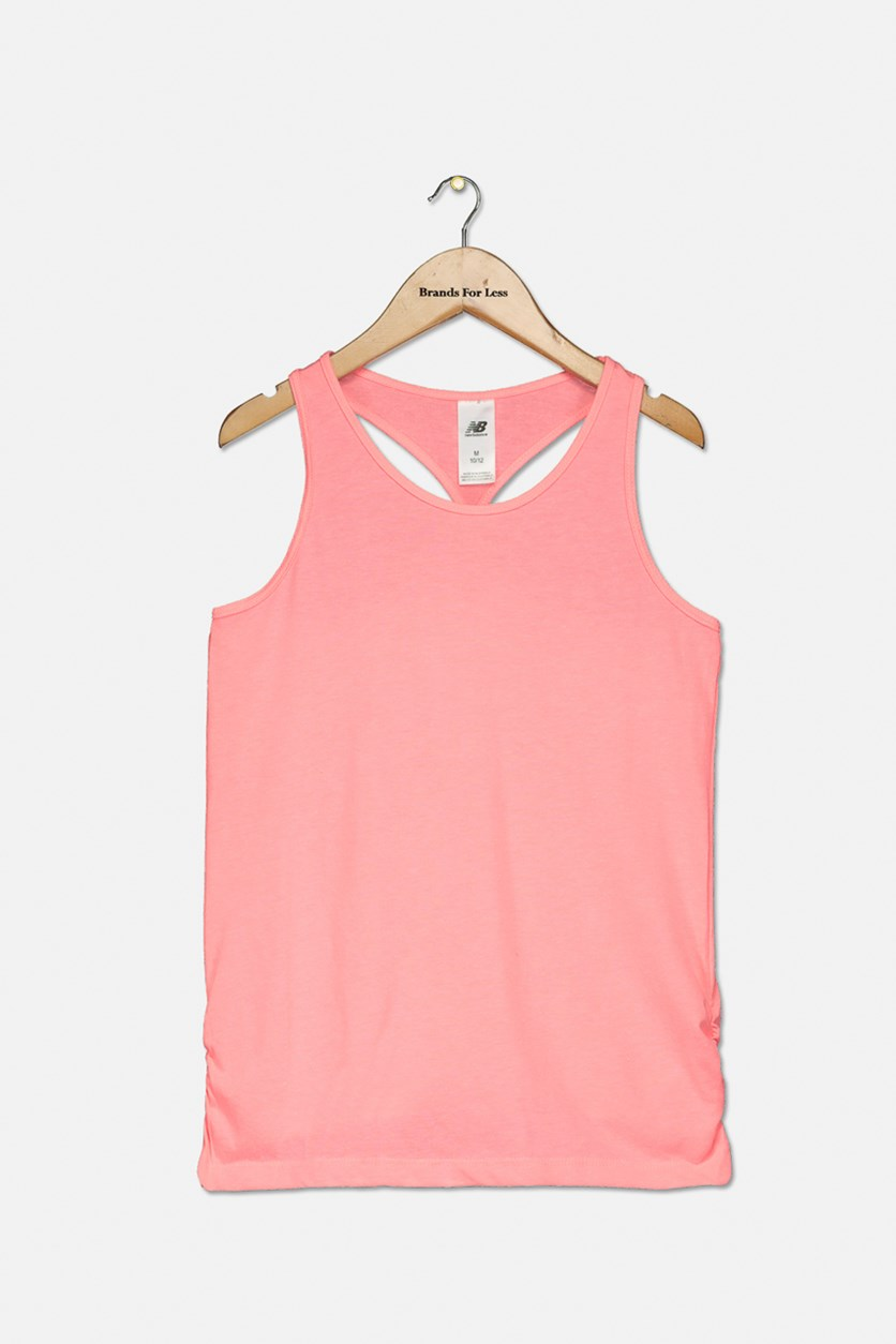 Girl's Core Pullover Tank Top, Gu Orange