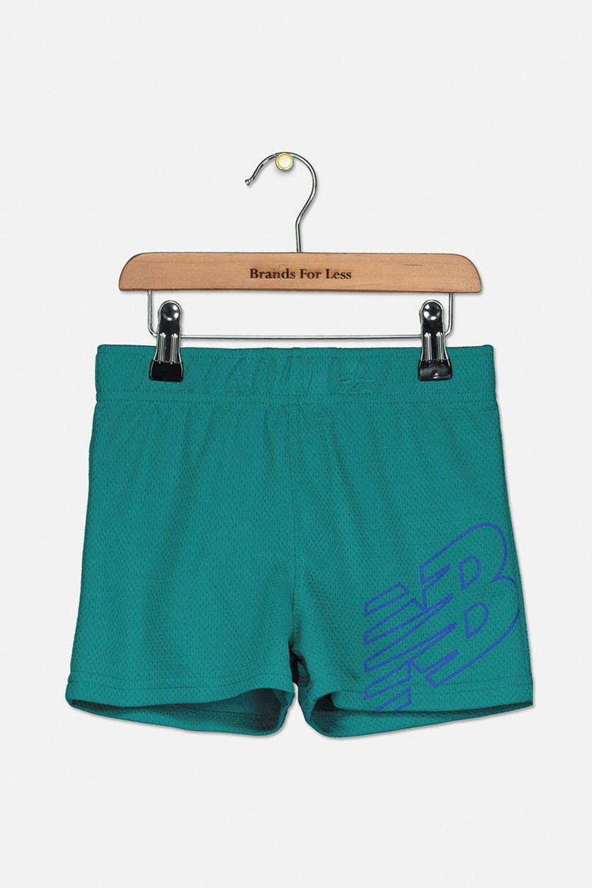 Girls' Core Performance Shorts, Emerald Green