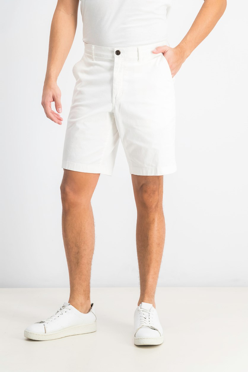 Men's Stretch Chino Shorts, White