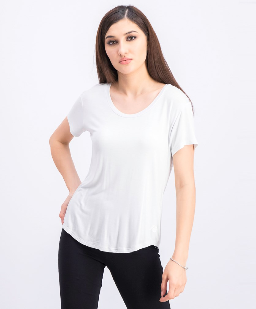Women's Scoop Neck Tee, Light Grey