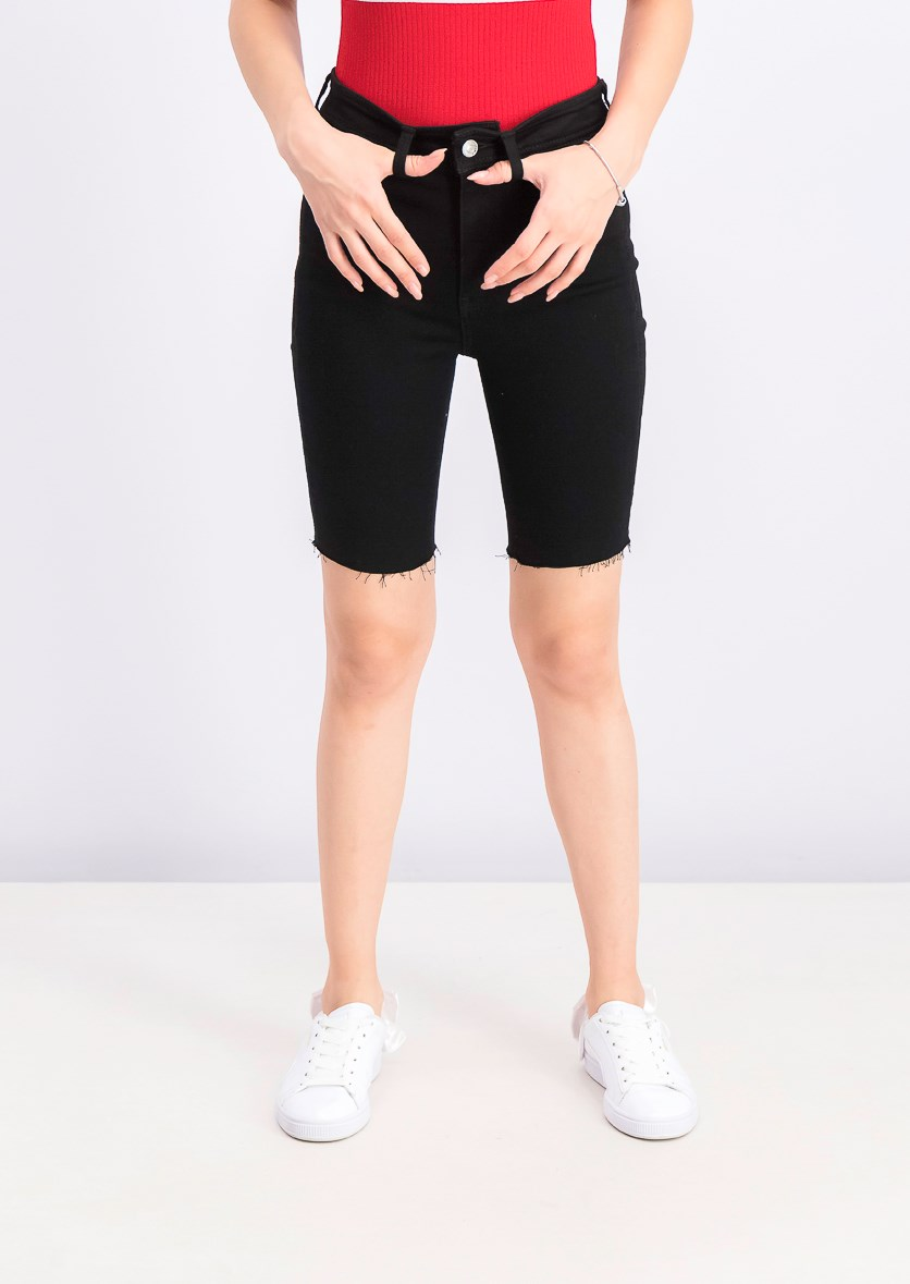 Womens Stretch Biker Short, Black