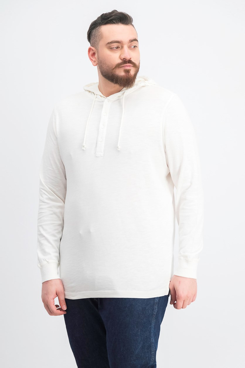 Men's Hooded Sweater, Ivory