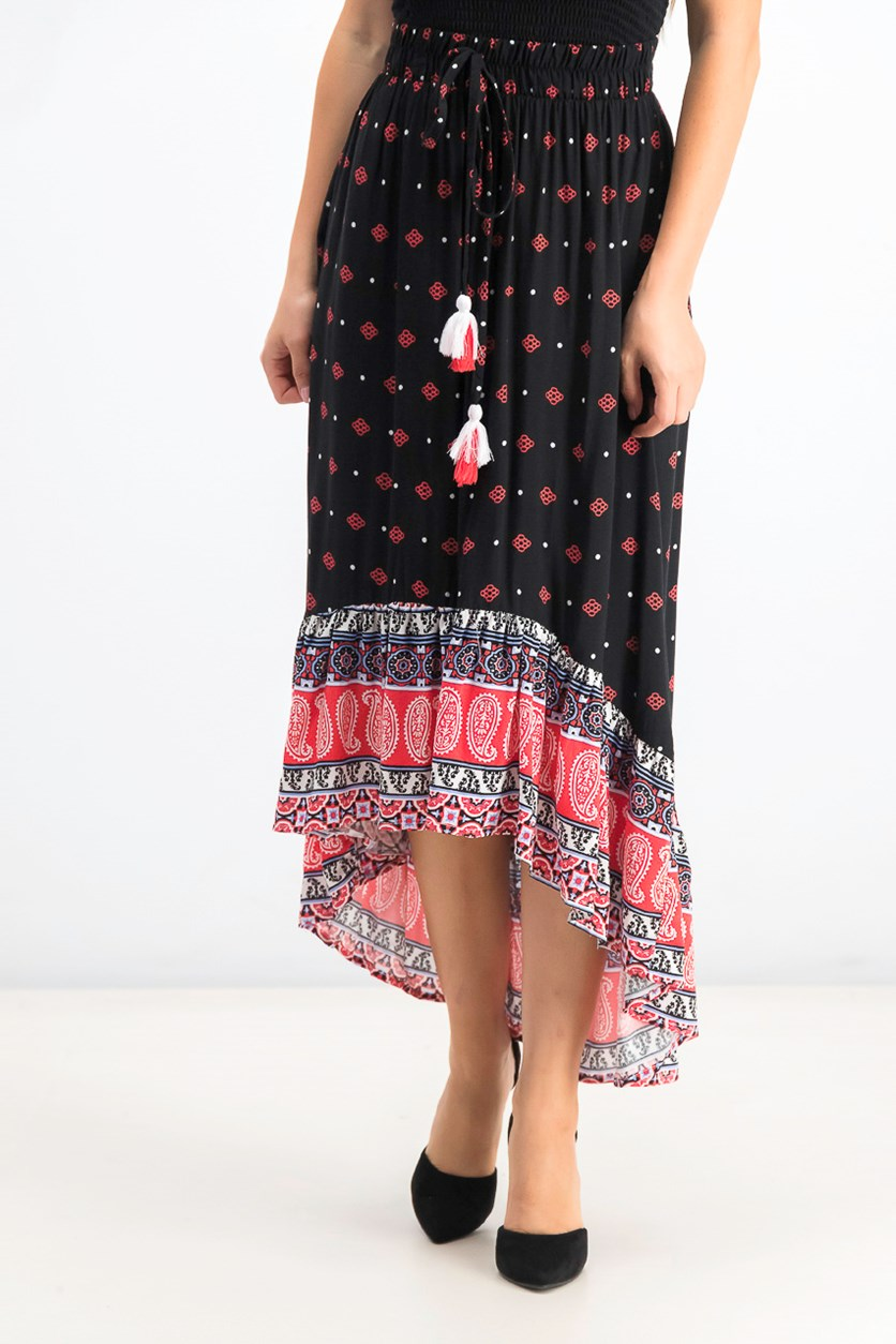 Women's Printed Boho Skirt, Moscow Flower