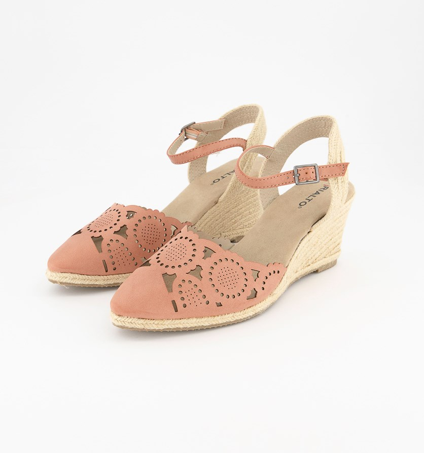 Women's Coya Espadrille Wedges, Rosewood/Burn