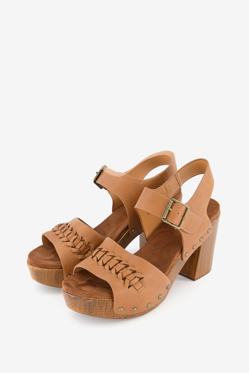 Women's Altheda Platform Sandals, Cognac