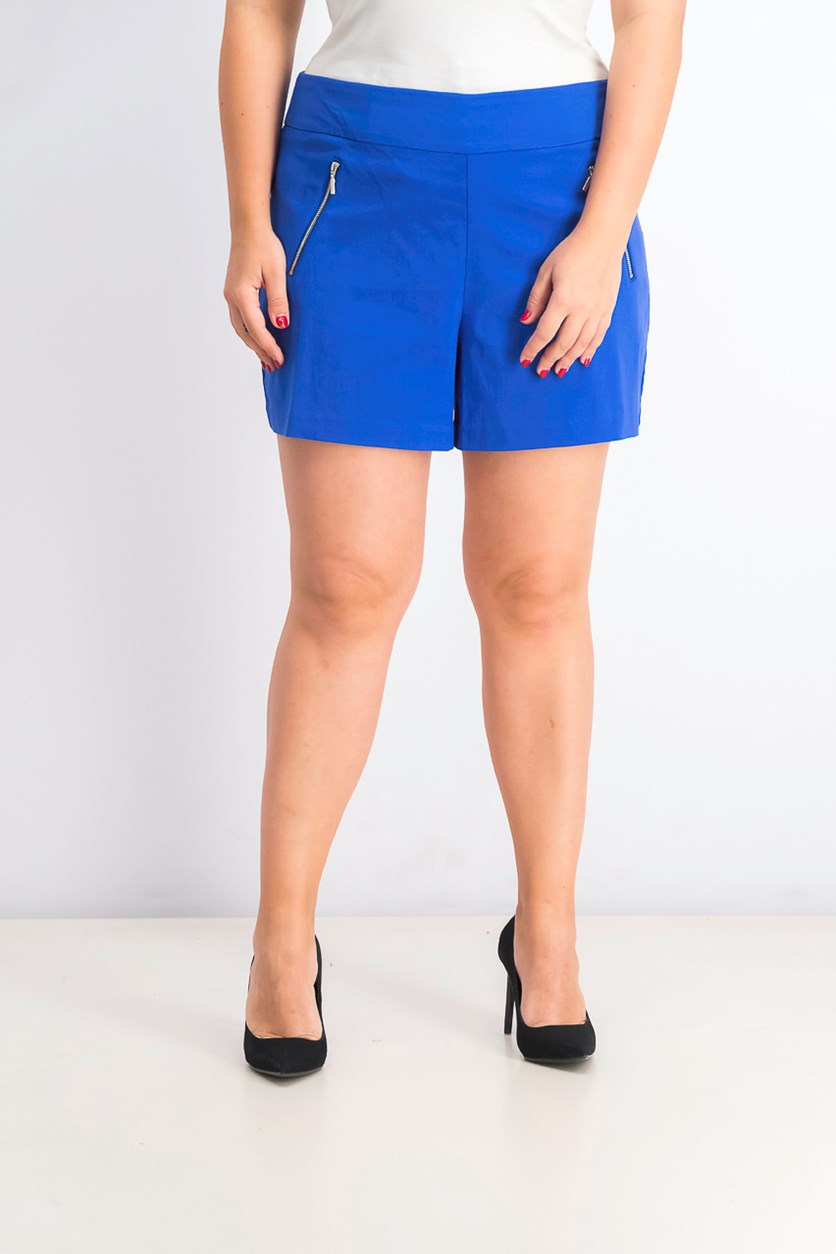 Women's Zip Pocket Shorts, Lazulite