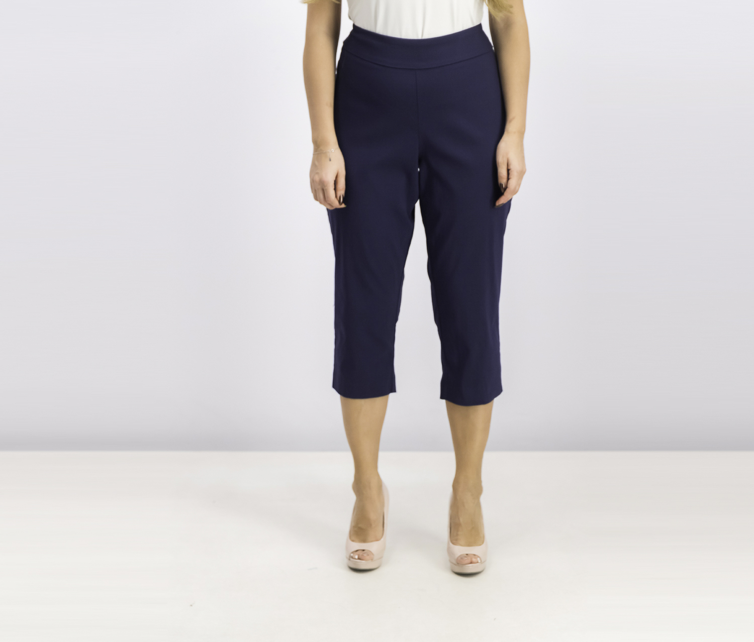 Women's Cropped Hardware Pants, Navy