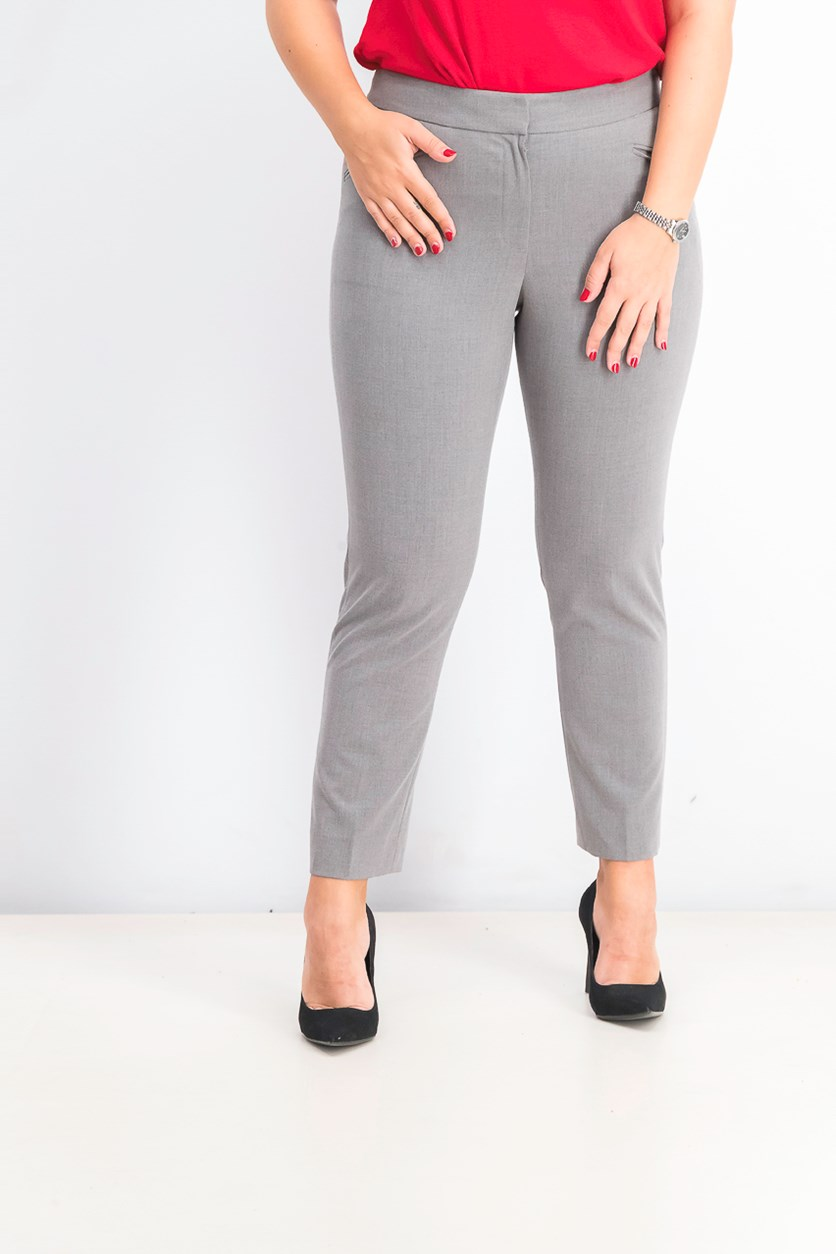 Women's Skinny-Leg Trousers, Heather Grey