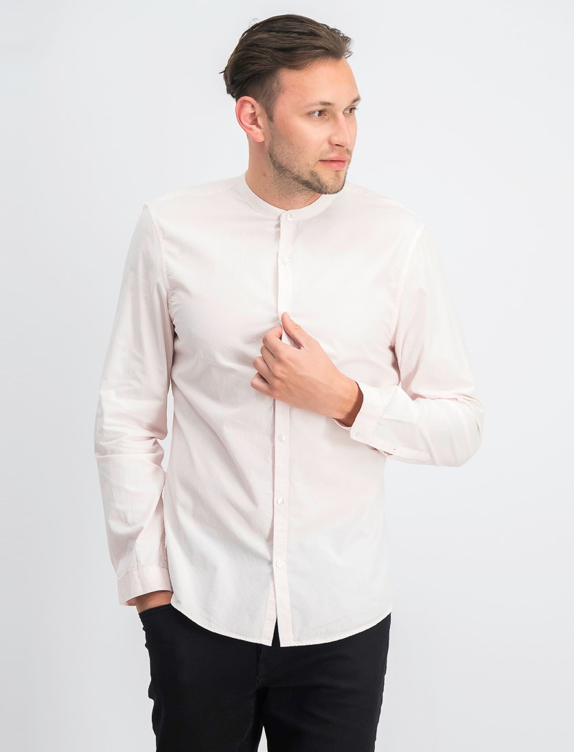 Men's Slim Fit Long Sleeves Shirt, Pink