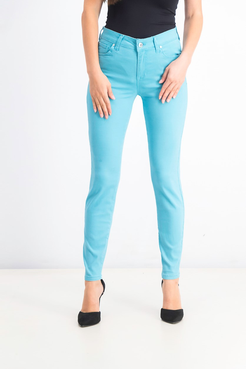 Juniors' Ankle Skinny Jeans, Island Blue