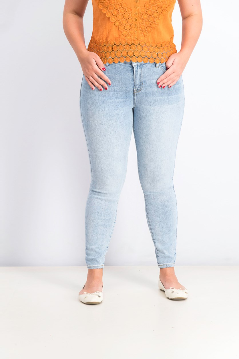 Juniors' Skinny Ankle Jeans, Blue