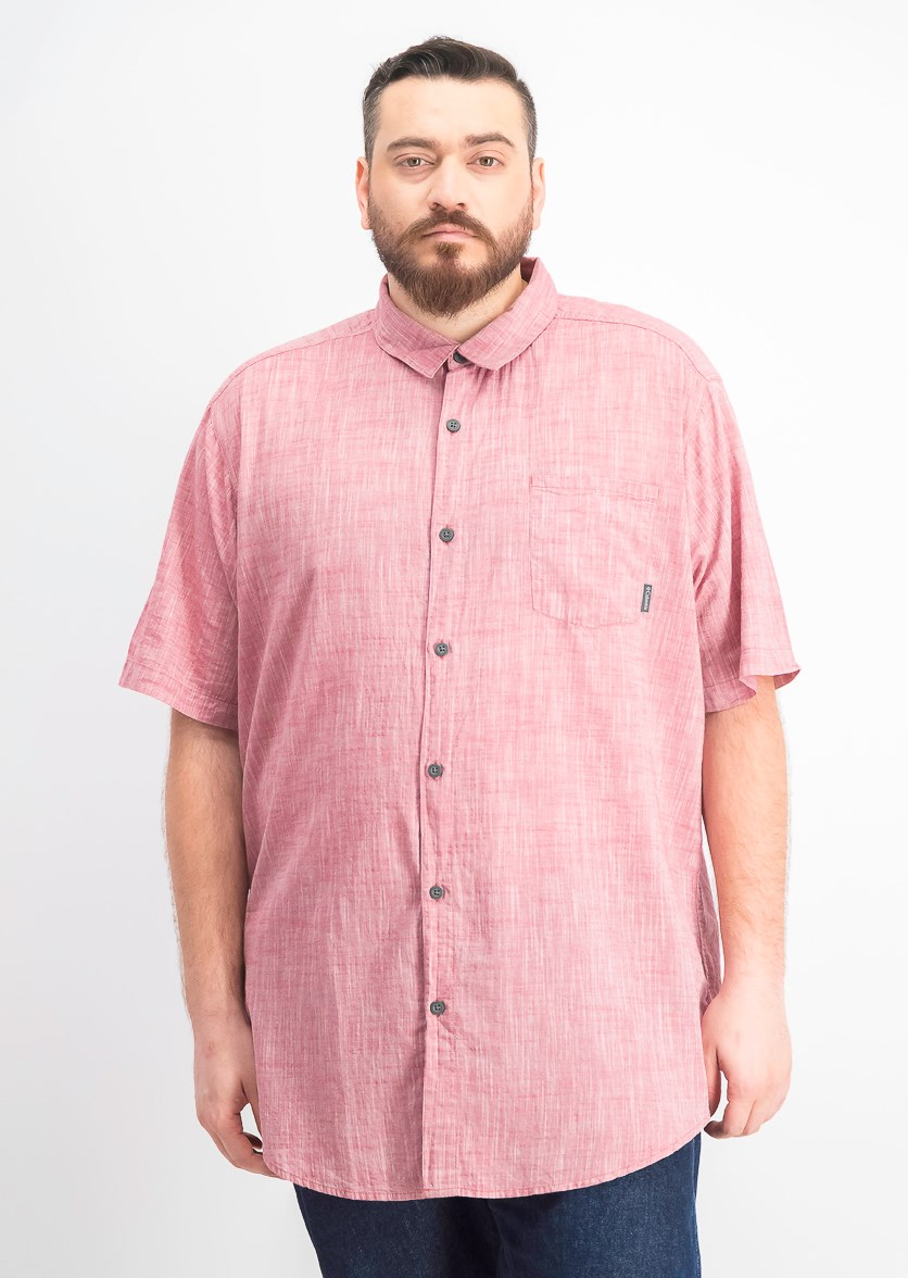 Men's Big & Tall Under Exposure Yd Short Sleeve Shirt, Dark Pink/Red