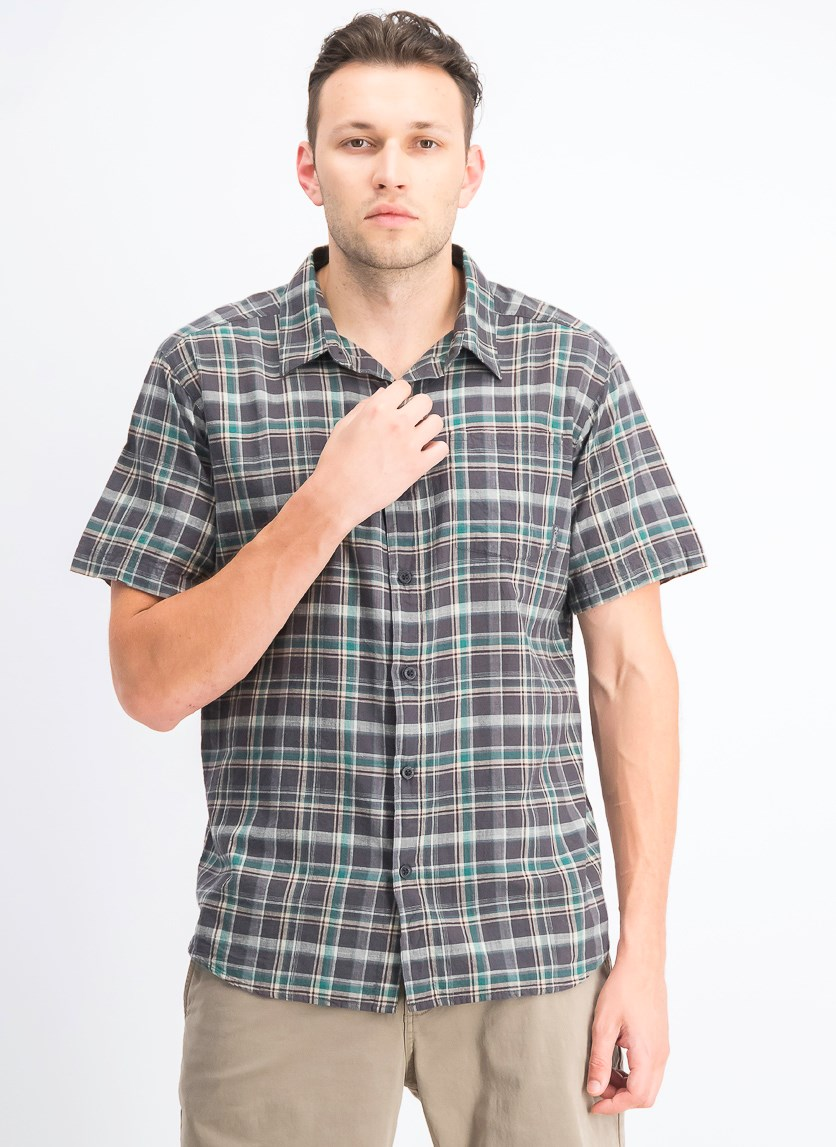 Men's Short Sleeve Regular Fit Shirt, Green Combo