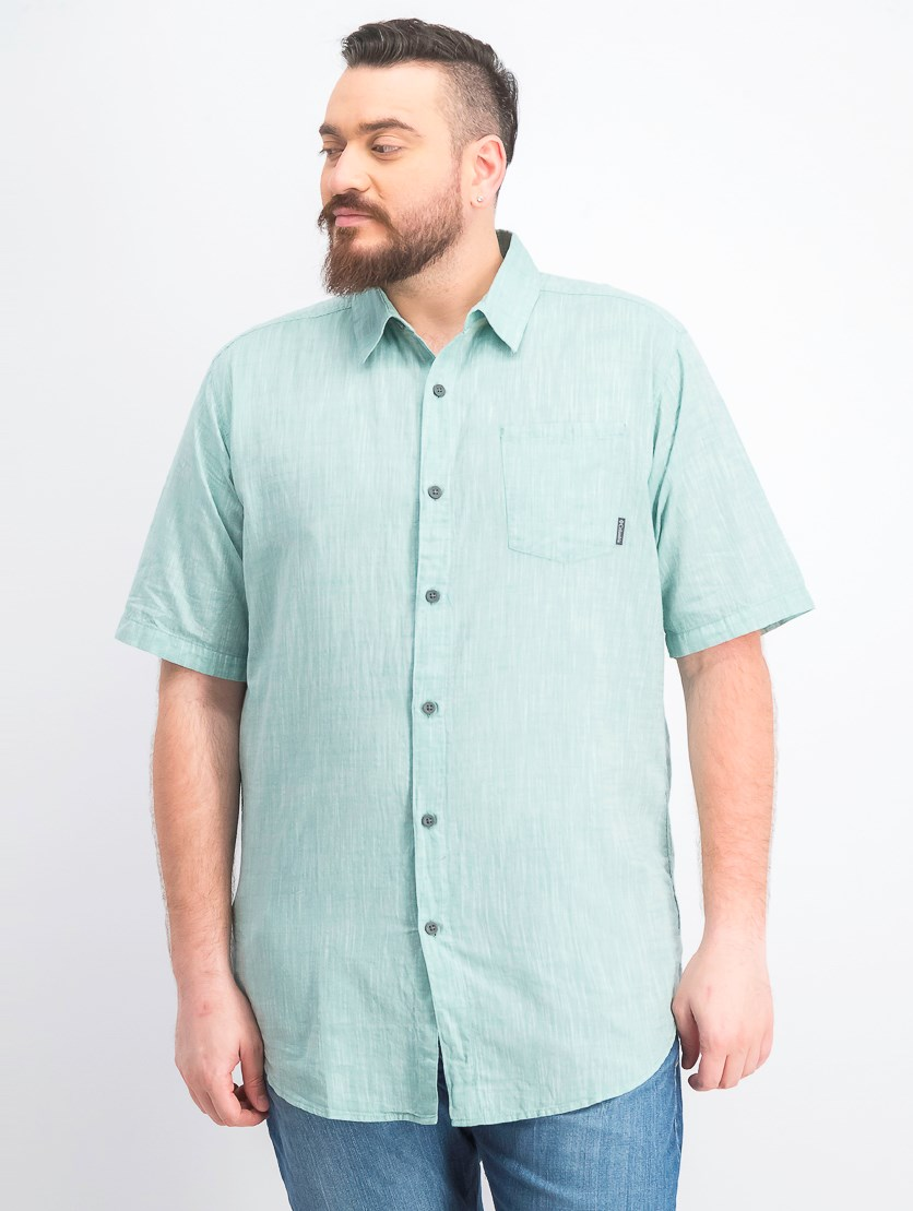 Men's Big & Tall Under Exposure Yd  Short Sleeve Shirt, Green