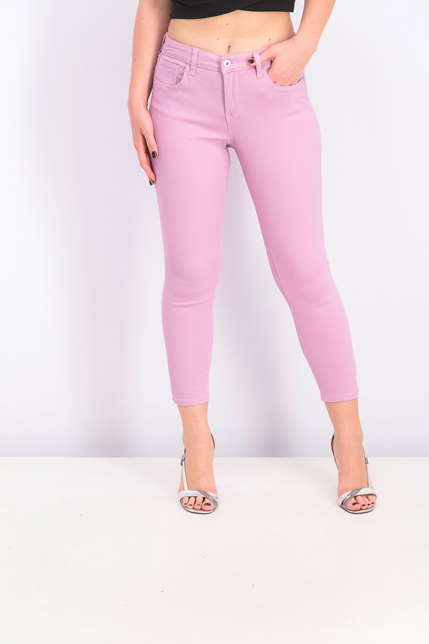 Women's Petite Curvy-Fit Skinny Jeans, French Orchid