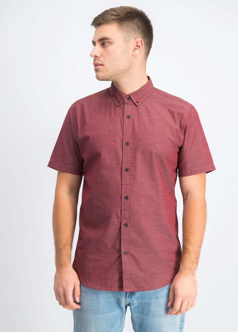Men's Delmore Regular-Fit Shirt, Lychee
