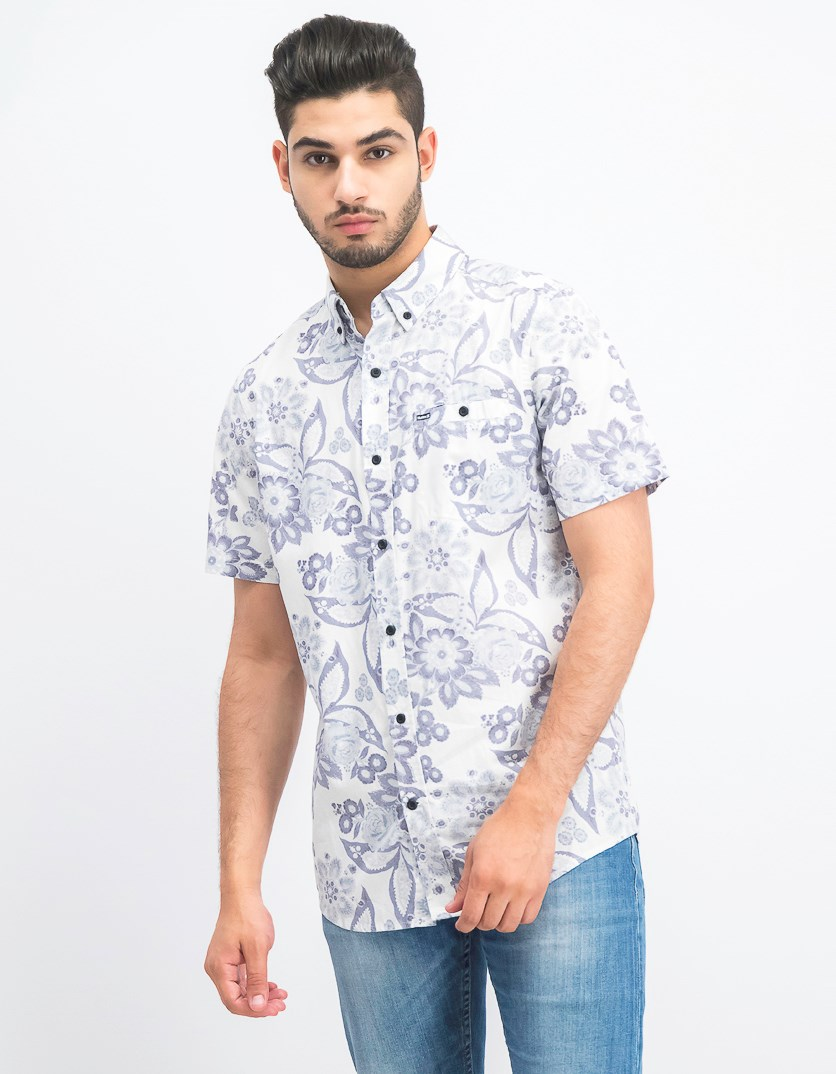 Men's Printed Shirt, Summit White